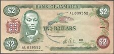 JAMAICA 2 Dollars $ 1985  nice Bank note ,    notes paper money