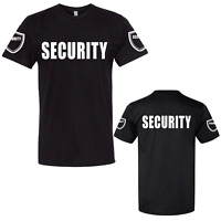 Security Premium Double Side and Sleeved Tshirt, Side Badges Event Staff Uniform