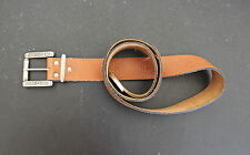 Levi's 501 Metal Buckle w Light Brown Leather Belt