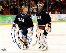 Tim Thomas Bruins signed USA Olympic 16x20 Ryan Miller