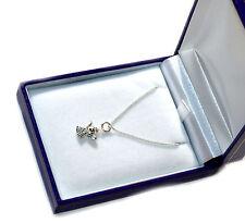 Silver Guardian Angel Made With Swarovski Crystal + Chain+ Box