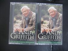 ANDY GRIFFITH, SET OF 2 PRECIOUS MEMORIES CASSETTES, 33 TIMELESS HYMNS ON EACH