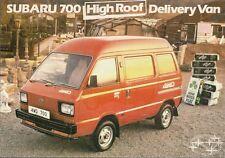 Subaru 700 High Roof Van 1985-86 UK Market Leaflet Sales Brochure 2WD 4WD