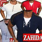 #Zahida Polo Uomo felpa maglietta Manica corta scollo a V Style