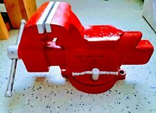 Vintage Columbian 5 Inch Heavy Duty D45 M4 Combination Pipe And Bench Vise Vice