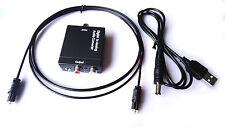 Toslink Optisch Koaxial Digital auf Analog Audio Konverter Adapter RCA R/L 3,5mm