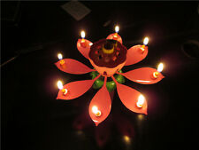 Amazing Musical Lotus Candle Light For Birthday Party Christmas Bedroom