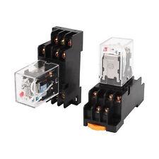 2 Pcs Hh53p L Coil Power Relay 11pin 3no 3nc W Pyf11a Socket Base Ac 110v120vk