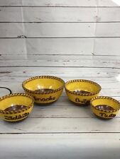 Lot Of 4 Vintage Mid Century Snack Nesting Bowls Neat