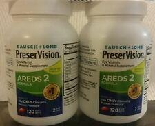 2 Bottles PreserVision Areds 2 Eye Vitamin, Softgel 240 Capsules **Not In Box**