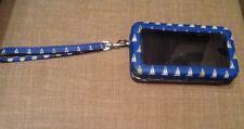 "MERONA Blue Sailboat Print Vegan Leather Cell Phone Wallet Clutch 3.25"" x 5.5"""