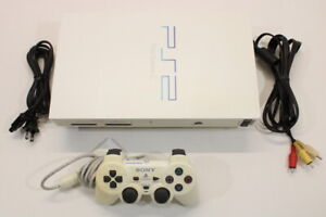 Sony PS2 Fat White Console 55K AC AV Cont Bundle Japan Import US Selller 2PC93
