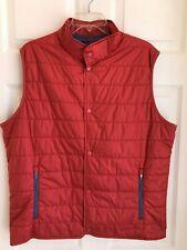 "Nwt~Peter Millar~""Crown "" Quilted Lightweight Vest~""Cape Red""~Medium~ Mrsp $165"
