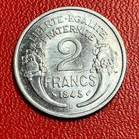 #5498 - 2 francs 1945 B Morlon SUP/SPL Magnifique - FACTURE