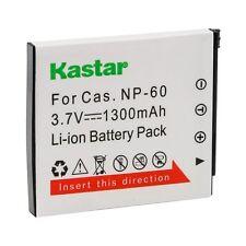1x Kastar Battery for Casio NP-60 Exilim EX-FS10 EX-S10 EX-S12 EX-Z9 EX-Z19