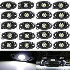 20X White CREE LED Rock Light JEEP ATV Off-Road Truck Under Body Trail Rig Light