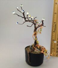 Dollhouse 1/12th scale Halloween eyeball tree with poison ivy