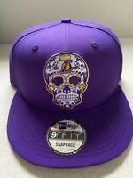 Los Angeles LA Lakers New Era 9Fifty 950 Sugar Skull Sugarskull Hat Snapback NEW