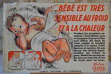 Affiche Nestlé - Bébé est très sensible - Comité national de l'enfance - 1946