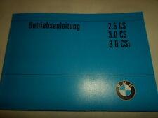 BMW E9 E 9 3.0 CS CSi 3,0 2.5 coupe Bedienungsanleitung handbuch manual blau