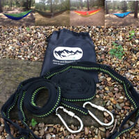 Hammock and Tree Strap Set (Multi Loop adjustable) with carabiners & stuff sack