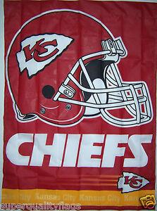 27X37 KANSAS CITY CHIEFS GENUINE NFL LICENSED FLAG POLE SLEEVE MADE USA BANNER