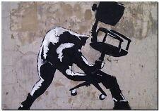"BANKSY STREET ART CANVAS PRINT London calling clash 24""X 36"" stencil poster"