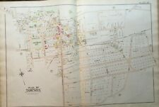 ORIGINAL 1898 BALTIMORE COUNTY MARYLAND TOWSON BOSLEY AVE TO PARK AVE ATLAS MAP