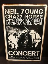 NEIL YOUNG CRAZY HORSE  Concert Poster Vintage RETRO STYLE Metal Sign 20x30 Cm