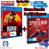 Playstation 4 PS4 Game Marvel Spider Man + Red Dead Redemption 2 Games Bundle