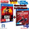Playstation 4 PS4 Game Marvel Spider Man + Red Dead Redemption 2 Games Bundle
