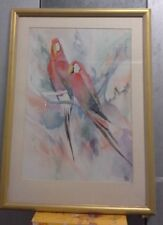 Birds of the Amazon Original Watercolour, Madden, Signed LRHS