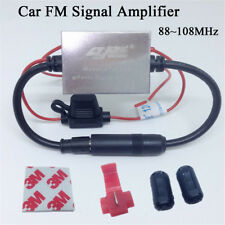 Anti-interference Metal FM Signal Amplifier Car Antenna Radio Universal Booster