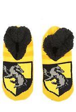 Harry Potter Hufflepuff Cozy Fluffy Slipper Socks Anti Slip Soles New With Tags!