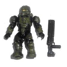 Halo Mega Bloks Figures ~ 2013 UNSC recruter (vert) & Railgun