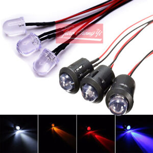 Red/blue/green/white/yellow color PreWired 12V F10mm Car Boat LED + Holder 10R