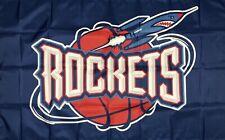 New listing Houston Rockets Nba Classic Retro Flag 3x5 ft Basketball Sports Banner Man-Cave