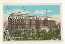 Independence Square, Curtis Publishing Co PHILADELPHIA PA Vintage Postcard