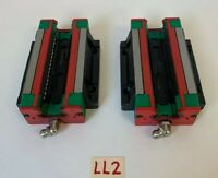 Hiwin HG20 Ball Bearing Linear Block Slide HGW20HCH (Lot Of 2) *Warranty*