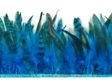 Rooster Feathers | Chinchilla Schlappen Feathers - 1 Yard, Blue