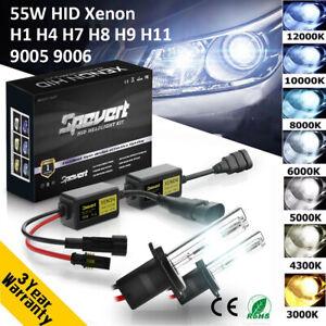55W H1 H3 H7 H8/9/11 9005/6 CANBUS HID Xenon Headlight Conversion Kit Error Free