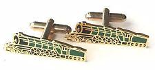 Steam Train Enamel Crested Cufflinks (N244) Gift Boxed