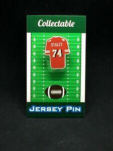 San Francisco 49ers Joe Staley jersey lapel pin-Collectible Niners Nation