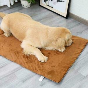 New Large Memory Foam Dog Mattress Pad Bed Warm Cushion Crate Cat Mat Pet L9N1