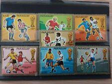 PARAGUAY 1974 world cup  7 stamp set MNH