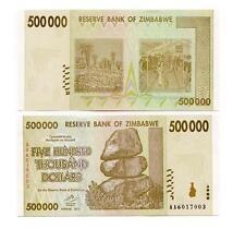 ZIMBABWE: 10 PIECE 2007-8 3RD ISSUE BANKNOTE SET, $1 TO 50 MILLION