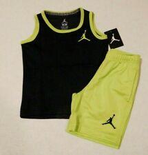 NWT 2pc Nike Jordan Black Green Shirt & Shorts sz 5