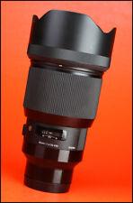 Sigma 85mm F1.4 DG ART Lente de enfoque automático rápido Prime-Sony Montaje + F/R E casquillos de lente