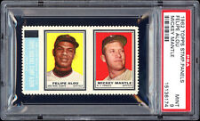 1962 Topps Stamp Panels - Mickey Mantle & Felipe Alou - PSA 9 MINT Highest Pop 4