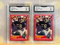 1989 Score 2x Lawrence Taylor #192 - 9 MINT GMA Graded Giants Football Card LOT